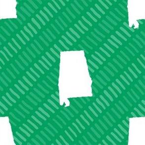 Alabama State Shape Green and White