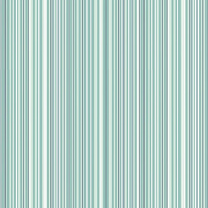 Pale Green Skinny Stripes