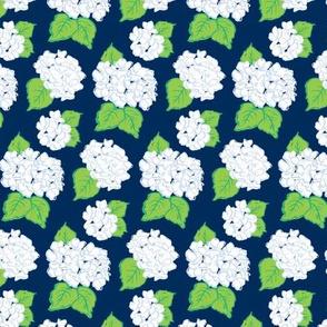 Navy & White Hydrangeas