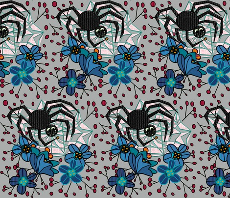 Spiders_webbed_flowers_gray3_copy_contest280190preview