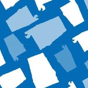 Alabama State Shape Blue and White