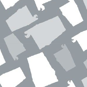 Alabama State Shape Grey and White