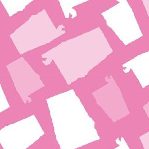 Alabama State Shape Pink and White