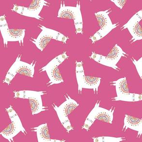 Llama Party Pink