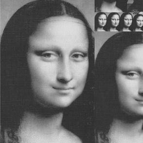 Mona Lisa Smiles in monochrome