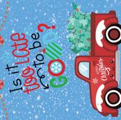 Christmas truck kawaii 1 yard panel