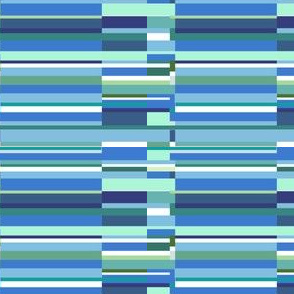 Lots of blues - blue stripes - blue color block