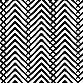 Arrows or mountains? Black on White-Medium scale