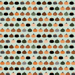 Fall fruit geometric pumpkin design Scandinavian style halloween pattern orange mint boys SMALL
