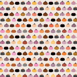 Fall fruit geometric pumpkin design Scandinavian style halloween pattern orange pink girls SMALL