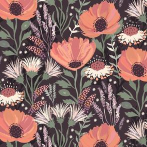 Neutral Floral Retreat Dark Medium