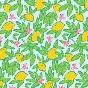 Lemons On Blue (Small)