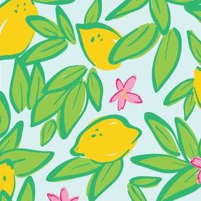 Lemons on Light Blue