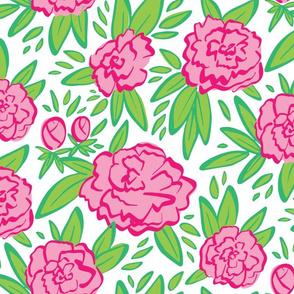 Pink & Green Peonies