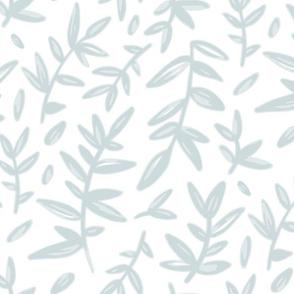 Soft Blue Leaves