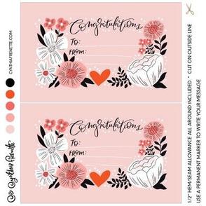 Quilt label- Congratulations