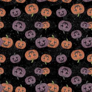 Cute Pumpkins in dark