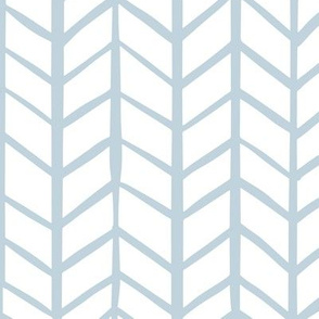 Light Blue & White Herringbone
