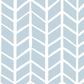 Blue & White Herringbone
