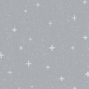 Textured Gray Geometric + Design // Neutral Retreat Colors // Gray Swiss Plus Cross // Lines, Dots, Texture, Pattern, Shapes, Starry, Night, Sky