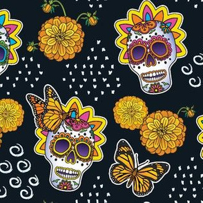 Sugar Skulls & Marigolds