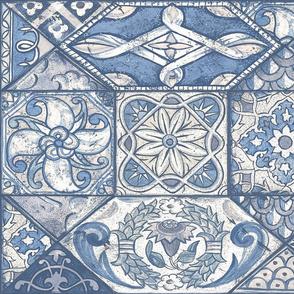 Shabby Cheater Quilt (blue)50