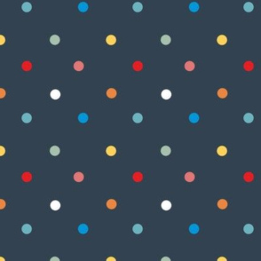1066 Colorful Dots - navy