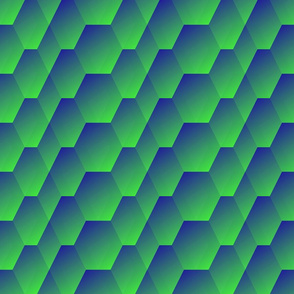 green to blue gradient waves