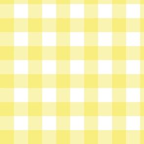 Yellow & White Gingham