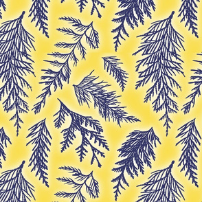 cedarbranches_navy_yellow