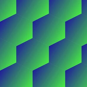 green to blue gradient hexagons