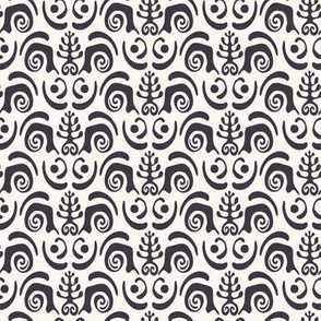Seamless vector pattern. Abstract ethnic tribal scandi style.