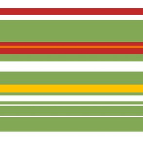 stripes green-red-white