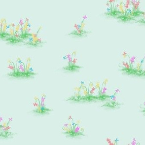 Blumenwiese green M005