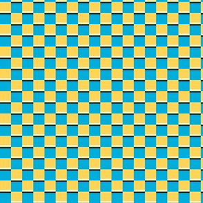 Save / The Reign of the Honey Bee   -Azure blue & yellow Check