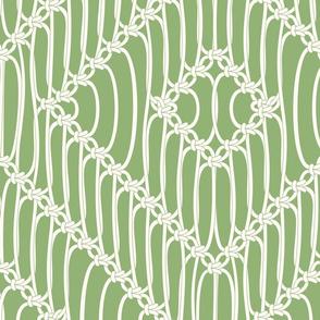 Macrame Squares green
