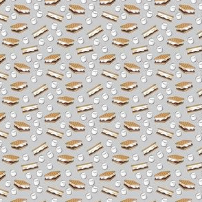 (micro scale) s'mores with marshmallows C19BS