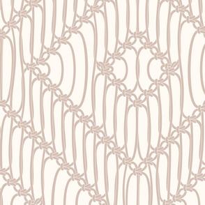 Macrame Squares ivory light tan