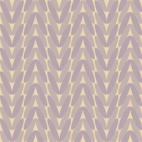 Neutral knitted pattern - beige and muted purple