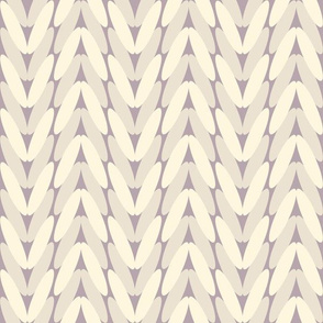 Neutral knitted pattern - muted purple and cream
