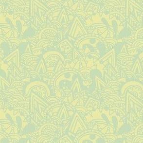 Mayan Fantasy / Green Pastel