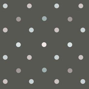 1162 Light Shaded Dots on dark - anthrazite
