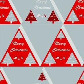 20191923 Xmas Tree triangles Grey red
