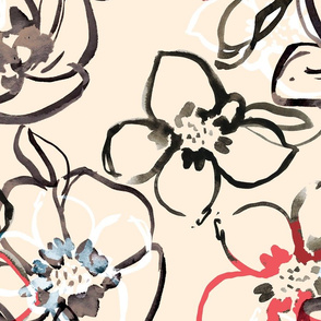 Floral Watercolor Pattern Design
