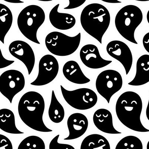 Scariest Ghosts Black on White
