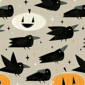 MCM Crows and Jack-O'-Lanterns - Small by Friztin