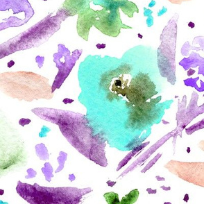 Bloom in Paris • purple and   • watercolor florals
