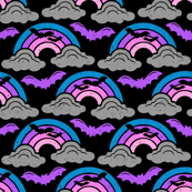Rain Clouds Rainbows and Bats