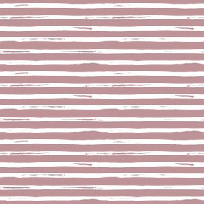 "8"" White and Dusty Pink Stripes"
