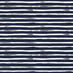 "8"" White and Dark Blue Stripes"